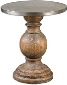Uttermost Blythe Wooden Accent Table, Brown