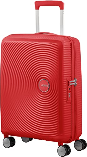 American Tourister Soundbox - Spinner Small Expandable Equipaje de Mano, 55 cm, 41 Liters, Rojo (Coral Red)