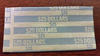 40 Pack - Flat Tubular Coin Wrappers, Susan B. Anthony or Sacagawea Dollar Coin, Pop-Open Wrappers, 40/Pack - MMF Industries - 216020001