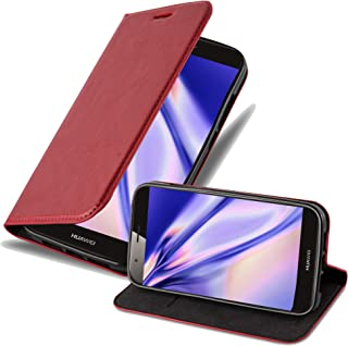 Cadorabo Book Case Works with Huawei Ascend G7 Plus / G8 / GX8 in Apple RED – with Magnetic Closure, Stand Function and Card Slot – Wallet Etui Cover Pouch PU Leather Flip