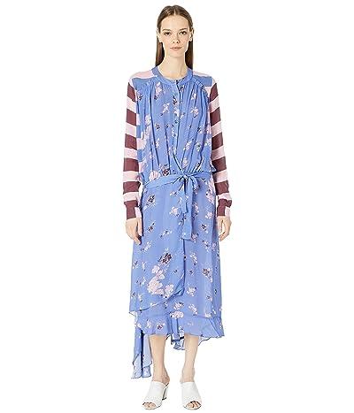 Preen by Thornton Bregazzi Daisy Dress (Wildflower Blue/Stripe) Women
