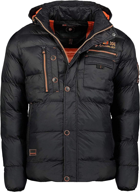 Geographical Norway Citerner Men – Abrigo cálido acolchado para hombre – Abrigo cálido forro invierno para hombre – Chaqueta cortavientos de manga larga – Relleno calidad tejido ligero
