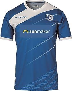 uhlsport 1. FC Magdeburg Kinder Heimtrikot 18/19 blau FCM Jersey Jungen Junior