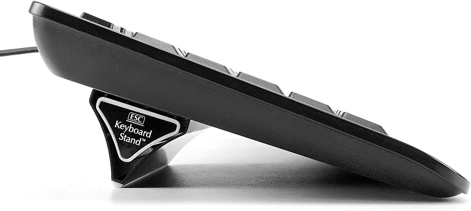 ESC Computer Keyboard and Laptop Stand, Variable Ergonomic Angles and Tilt, Two Sizes of Stands Included, Compatible with Most Keyboards, Repositionable Micro Grip Pads
