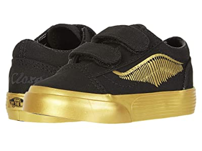 Vans Kids Vans x Harry Potter Sneaker Collection (Infant/Toddler) ((Harry Potter) Old Skool V Golden Snitch/Black) Kids Shoes