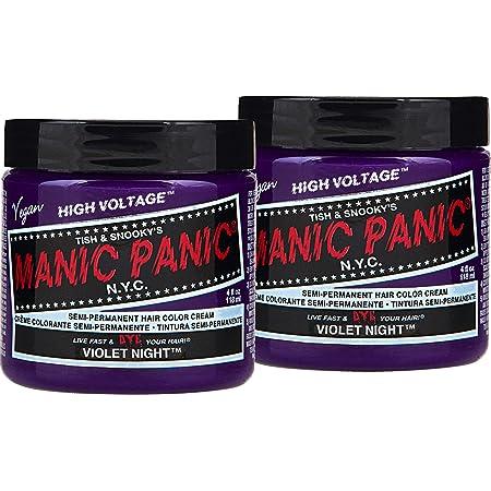 2x Manic Panic Classic Violet Night Coloración Semi-Permanente