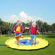 Zoneyee Sprinkle & Splash Play Mat,Outdoor Water Play Sprinklers Pad for Kids, Upgraded Inflatable 68