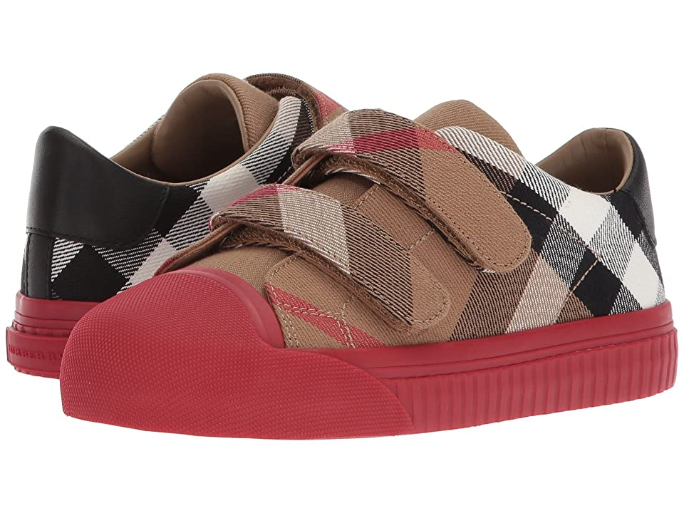 Burberry Kids Belside Check Trainer (Toddler/Little Kid) (Classic/Parade Red) Kid