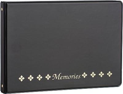 Ultra Pro Classic 4-Ring Horizontal Photo Album, Black
