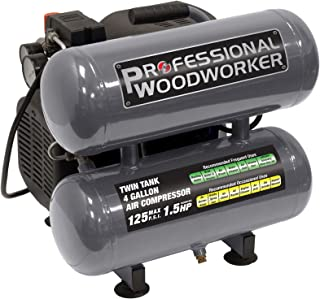 Professional Woodworker 9526.0 4 gallon Twin Stack Air Compressor