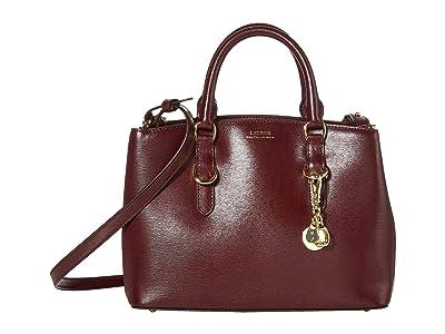 LAUREN Ralph Lauren Mini Zip Satchel (Bordeaux) Satchel Handbags