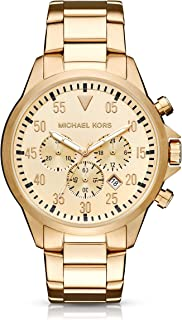 Men' sGage Gold-Tone Watch MK8491