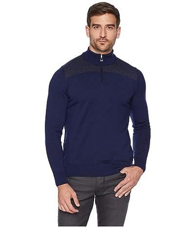 Dale of Norway Eirik Masculine Sweater (C-Navy Melange/Dark Grey Melange) Men