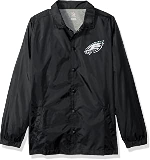 NFL Youth Boys Bravo Coaches Jacket-Black-L(14-16), Philadelphia Eagles