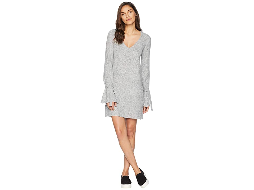 Cupcakes and Cashmere Jennibelle V-Neck Sweater Dress (Heather Grey) Women