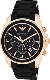 Emporio Armani Men's Quartz Watch, Analog Display and Leather Strap AR6066