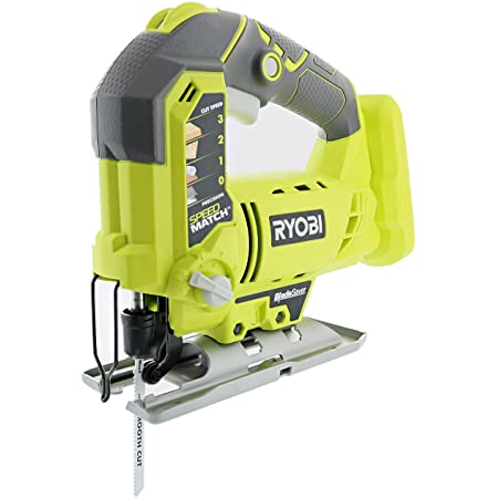 RYOBI One+ P5231 18V Lithium Ion Cordless Orbital T-Shaped 3,000 SPM Jigsaw (Battery Not Included, Power Tool and T-Shaped Wood Cutting Blade Only)