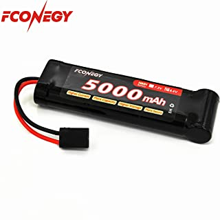 Fconegy NiMH Battery 8.4V 5000mAh 7-Cell Flat Pack with Traxxas Plug for RC Cars, RC Truck