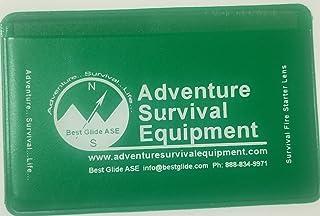 Best Glide ASE Credit Card Size Fresnel Lens Fire Starter and Magnifier Lenses (3 Packs - Green)