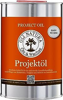 OLI-NATURA Projektöl für innen speziell für Möbel, Parkett und Treppen aus Holz, 1 Liter, Farblos