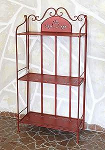 Scaffale Passion in metallo 123 cm rosso 18142 Libreria Scaffale-bagno Scaffale cucina