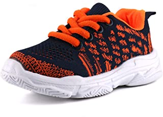 Moceen Kids Fashion Sneakers Ultra Lightweight Knit Breathable Athletic Running Walking Casual Shoes for Boys Girls