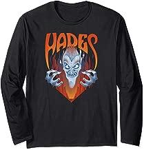 Disney Hercules Angry Hades Flames Portrait Logo Long Sleeve T-Shirt