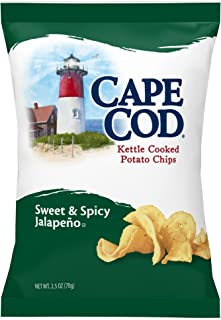 Cape Cod Potato Chips, Kettle Cooked Sweet and Spicy Jalapeno, 2.5 Ounce