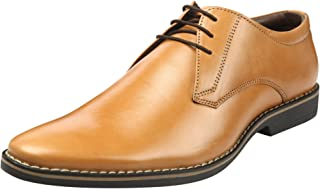 Heels & Shoes Men's Natural Leather Lace up Classic Derby Shoes