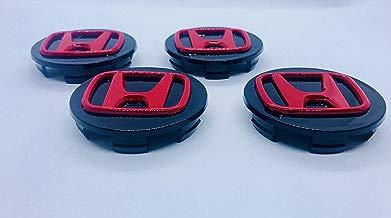 x4Alta Calidad Honda 70mm aleación Rueda Badge Negro Rojo Emblema Logo Mediados Hub–Tapas Accord Cr-V Civic Jazz Legend y otros modelos 0W17de Sea de 6m00de B