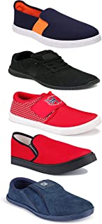 WORLD WEAR FOOTWEAR Sports Running Shoes/Casual/Sneakers/Loafers Shoes for Men Multicolor (Combo-(5)-1219-1221-1140-383-1085)