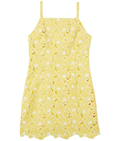 Milly Minis Maria Tropical Lily Embroidery Dress (Big Kids) Girl