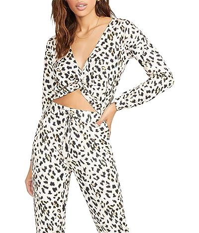 BB Dakota x Steve Madden Twist Of Fate Sweatshirt Leopard Printed Knit Top Women