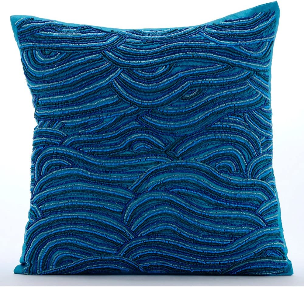 The HomeCentric Designer Special price for a Super Special SALE held limited time Blue Euro Pillow inch 26x26 Shams 65x6