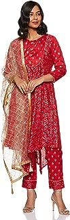 Jaipur Kurti Women's Asymmetrical Hemline Salwar Suit Set
