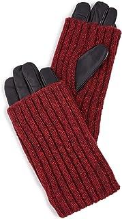 Carolina Amato Women's Touch Tech Wood Smoke Overlay Gloves