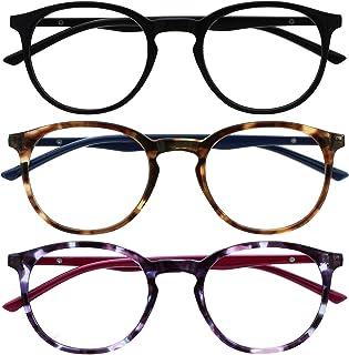 Opulize Met 3 Stuks Blauw Licht Blokkeert Leesbril Computer Gamen Zwart Bruin Purper Mannen Vrouwen BBB60-125 +2,00