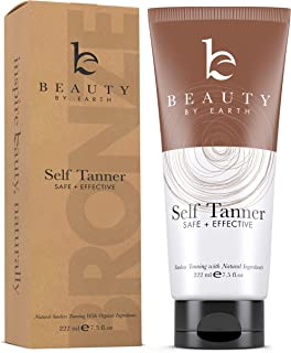 Self Tanner with Organic & Natural Ingredients, Tanning Lotion, Sunless Tanning Lotion for Darker Bronzer Skin, Self Tanning Lotion - Self Tanners Best Sellers, Fake Tan