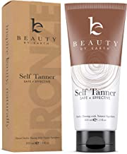 Beauty by Earth Self Tanner - Organic And Natural Ingredients Sunless Tanning Lotion And Bronzer Golden Buildable Light, Medium Or Dark Gradual Tan For Body And Face 7.5 Oz