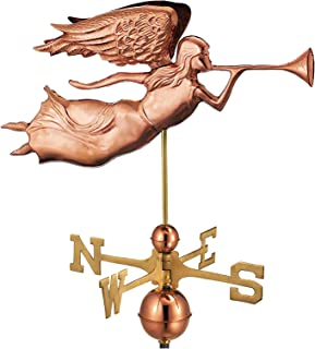 Good Directions Angel Weathervane, Pure Copper