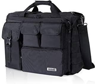 "Lifewit 17"" Men's Military Laptop Messenger Bag Multifunction Tactical Briefcase Computer Shoulder Handbags, Black"