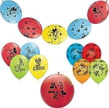 """Pioneer الوطني بالونات للحفلات ميكي ماوس حزمة مكونة من اللاتكس ، باللون الأزرق/باللون الأصفر/أحمر/أخضر ، 10. 5""""/12سم/14. 5"""""""