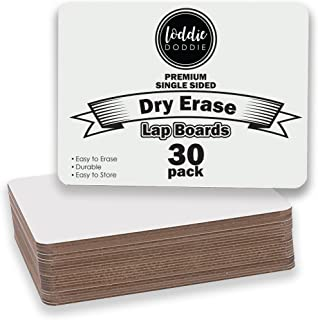Loddie Doddie- Classpack of 30 Dry Erase Student Lap Boards | Premium Surface, Sturdy and Easy to Store