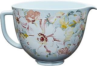 KitchenAid KSM2CB5PWG 5 Quart Ceramic Stand Mixer Bowl, 5 Qt, White Gardenia