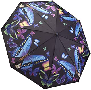 GALLERIA Umbrella Folding Moonlight Butterflies, 1 EA