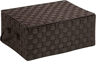 Honey-Can-Do OFC-03704 Double Woven Storage Chest Box with Lid and
