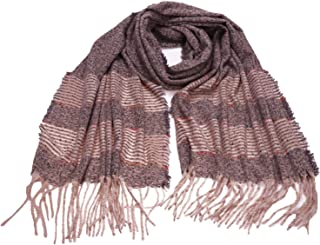 ANCHOVY Women Fashion Warm Scarf, Winter Long Shawl Pashmina Feel Tassel Wraps S009