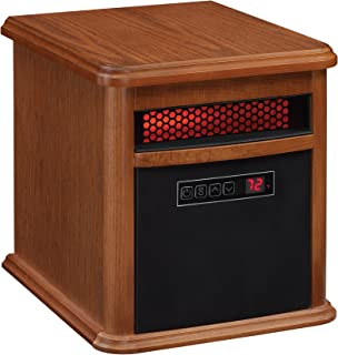 Duraflame 9HM9126-O142 Portable Electric Infrared Quartz Heater, Oak