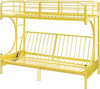 ACME Furniture 02081YL Eclipse Futon Bunk Bed, Twin Over Full, Yellow