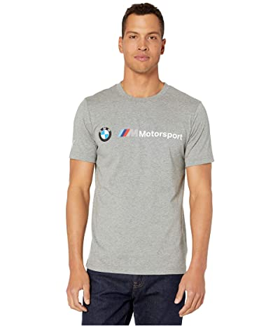 PUMA BMW MMS Logo Tee (Medium Grey Heather) Men